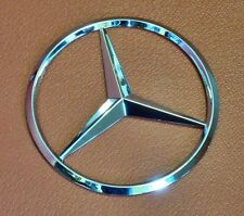 New Fits Mercedes Benz Chrome Star Trunk Emblem Badge 75 mm - Free US Shipping
