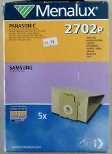 Menalux 2702p Panasonic / Samsung Pack of 5 Dustbags Vacuum Cleaner Bags