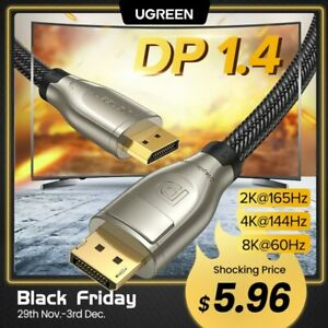 Ugreen DisplayPort 1.4 Cable 8K 4K HDR 165Hz 60Hz Display Port Adapter For
