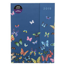 WHSmith Flutterby 2019 A5 Blue Magnetic Closure Diary Day to Page