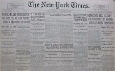 10-1930 October 27 VARGAS TAKES PRESIDENCY BRAZIL RIO. WHITNEY DIES OF PNEUMONIA