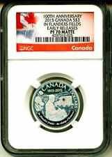 2015 S$3 Canada In Flanders Field 100th Anniversary Early Release NGC PF70 Matte