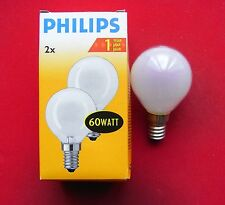 6 Stück Philips Glühlampe Glühbirne Tropfen Kugel 60 W Watt 60W E14 matt NEU