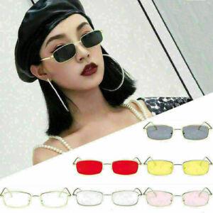 Vintage Glasses Women Square Shades Small Rectangular Frame Sunglasses Gift
