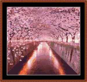 Cherry Blossom Cross Stitch Kit