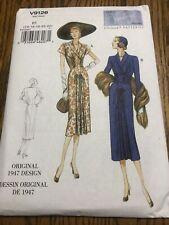 Vogue Vintage Model Sewing Pattern V9126 Original 1947 Design Dress Size 14-22