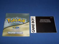 Pokemon Silver Version Game Boy Manual Set! Hard To Find! Hurry!