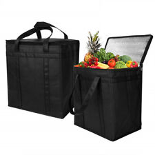 2Set Insulated Cooler Bag,Reusable Grocery Shopping Bag with Dual Zipper Closure