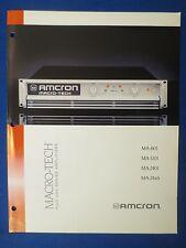 AMCRON CROWN MA-601 MA-1201 MA-2401 MA24X6 SALES BROCHURE MACRO TECH ORIGINAL