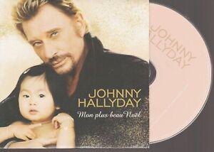 Johnny Hallyday Mon Plus Beau Noel Cd Single