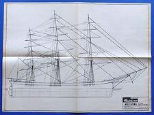 Modellismo Navale - Disegno Costruttivo - Tre alberi americano del 1850 Marianna