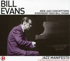 BILL EVANS JAZZ MANIFESTO CD - NEW JAZZ CONCEPTIONS EVERYBODY DIGS BILL EVANS