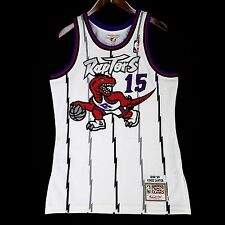 100% Authentic Vince Carter Mitchell Ness Raptors Home Jersey Size 40 M Medium