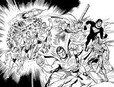 ACTION COMICS 1000 DAN JURGENS DF DYNAMIC FORCES B&W SKETCH VARIANT SUPERMAN NM