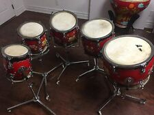 Five Tunable Five Piece Drum Set for performance