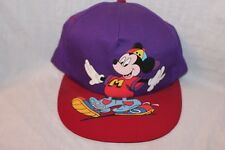 NEW WITH TAGS MICKEY MOUSE UNLIIMITED VINTAGE 90'S SNAPBACK CAP PURPLE