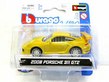 BURAGO Diecast car 2008 PORSCHE 911 GT2 NEW on card 1:64