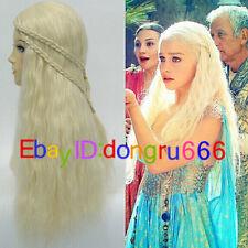 Daenerys Targaryen Dragon Princess Game of Thrones Braids Costume / Cosplay Wig