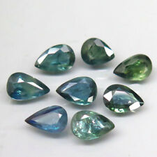 5.02Ct. Natural Green Blue Sapphire Africa Pear Shape Attractive Heated 10 Pcs.