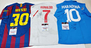 """GOAT"" 3 Legends #10, #7, #30 Autographed 3Jerseys Collection + COA, Certified"