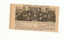 University School Cleveland & Maple Heights Ohio 1929 Football High School Team