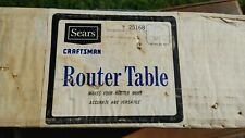 Vintage Craftsman Router Table 9-25168 NOS