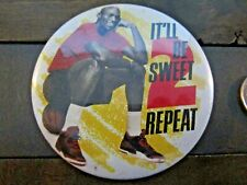 "Vintage 1991 McDonalds MICHAEL JORDAN 3"" It'll Be Sweet 2 Repeat Button Back Pin"