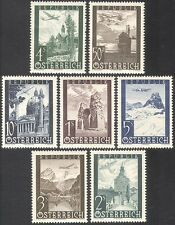 Austria 1947 Air Mail/Windmill/Church/Castle/Planes/Aircraft/Buildings 7v n42222