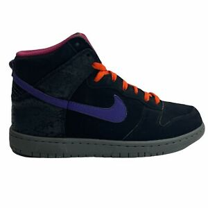 Nike Men's Dunk High Godzilla Black Purple Basketball Sneaker Shoes Size 9.5