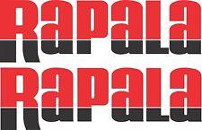 Rapala split colour stickers 2 x 275 x 85 Red / Black Avery Marine grade