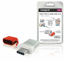Integral Flash Drive USB 3.0 128GB Aluminium/Red