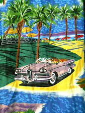 Reyn Spooner Mens Hawaiian Shirt Med. Vintage Cars Hot Rods Drive Ins Beach Tree