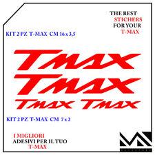 KIT 4 PEZZI 2 MISURE DI ADESIVI SCRITTE TMAX  T- MAX 500 - 530 COLORE ROSSO