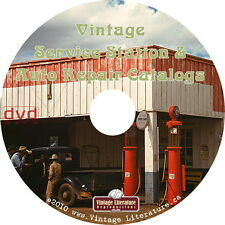 Vintage Service Station and Auto Repair ~ Antique Catalogs on DVD