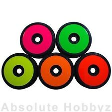 DE Racing 1/8 Buggy Wheel Sticker Disk (Pink) (8pcs) DER-SD8-P