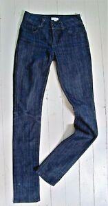 JEANS Dark blue DENIM style Cotton mix Stretch Skinny Ojay Size 6 Zip fly Slim