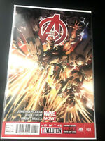 AVENGERS COMIC BOOK 004 Marvel Now! Hickman Kubert D'armata 2012 Boarded
