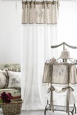 FLORA OFFWHITE Vorhänge 2x(120x250cm) Gardinen Landhaus Shabby Franske Curtain