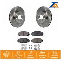 Front Disc Rotors & Ceramic Brake Pads Fits Toyota Yaris Prius C Scion iQ