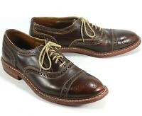 Allen Edmonds Strandmok Brown Leather Cap Toe Oxfords Shoes Men's 12 D