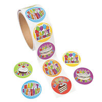 100pcs/roll Happy Birthday Seal Sticker for DIY Package GiftsSFFR