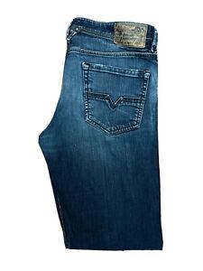 Original Diesel Larkee 008B2_Stretch Straight Blue Denim Jeans W34 L34 ES 8266