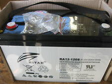 RITAR 120 amp HOUR DEEP CYCLE AGM BATTERY 12v 4X4 CAMPING FULLY SEALED BATTERY