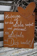 Edelrost Tafel Zuhause Spruch Garten Metall Tafel Rost Schild Text Herz Geschenk