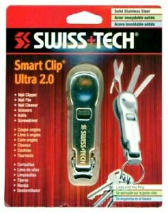 Swiss Tech Smart Clip Ultra 2.0 Key Ring Multi Tool Edc Stainless Steel