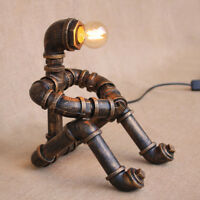 Industrial Steam Punk Pipe Robot Desk Lights Table Lamp Sconce Lighting Fixtures