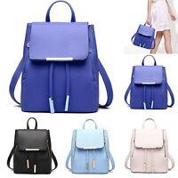Fashion Women Girls Leather Shoulder School Travel Bag Backpack Rucksack Handbag