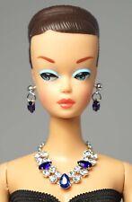 Barbie Doll Vintage FR Silkstone Sapphire Necklace Earrings Jewelry Set NE2197