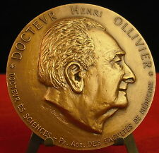 Médaille Docteur Henri Ollivier Police scientifique 1984 par Garbarino medal 铜牌