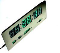 Digital office wall clock, slim, alarm function, calendar,  Gold Luxury Color